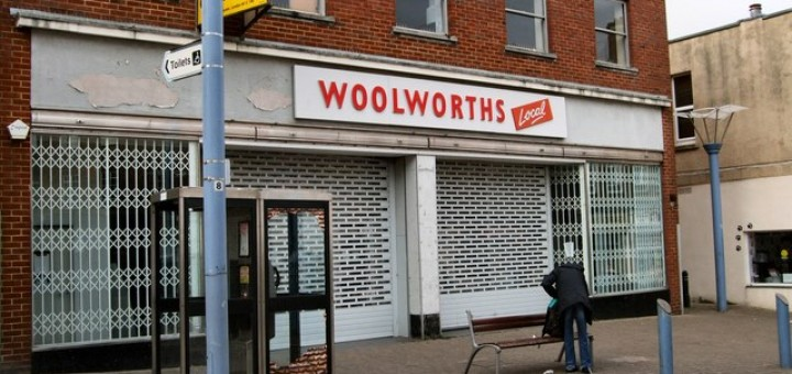 Former Woolworths and new Alworths site, Newhaven (17 Mar 2010). Photograph by Paul Gillett