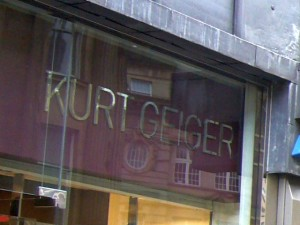 Existing Kurt Geiger in Grainger Street, Newcastle. Photograph by Graham Soult