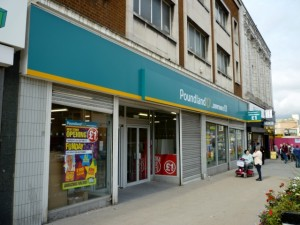 New Poundland store, Gateshead (21 Sep 2010). Photograph by Graham Soult