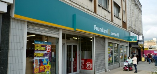 Poundland store, Gateshead (21 Sep 2010). Photograph by Graham Soult