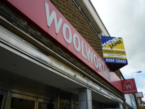 Former Woolworths, Coalville (24 Aug 2010). Photograph by Graham Soult