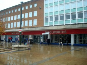 Former Woolworths, Crawley (24 Oct 2009). Photograph by Stacey Harris