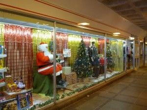 Boyes' Christmas window, Billingham (16 Nov 2010). Photograph by Graham Soult