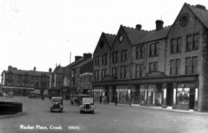 Post-Woolies view of Crook Market Place. Image courtesy of C&DLHS