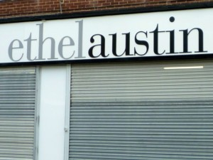 Shuttered Ethel Austin store. Photograph by Graham Soult
