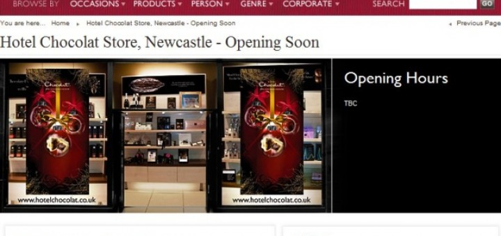 Hotel Chocolat website (2 Nov 2010)