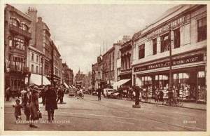Old postcard showing the same store prior to redevelopment
