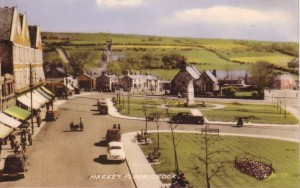 1950s postcard of Crook Market Place