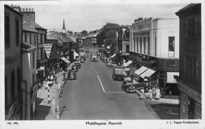 Postcard of Middlegate, 1950s