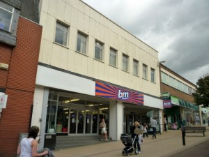 Former Woolworths (now B&M Bargains) Hinckley (24 Aug 2010). Photograph by Graham Soult