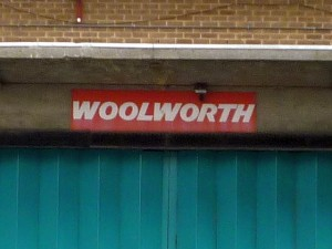 Rear of former Woolworths, Burton (24 Aug 2010). Photograph by Graham Soult