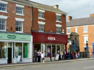 Former Woolworths (now Costa), Ashby-de-la-Zouch (24 Aug 2010). Photograph by Graham Soult