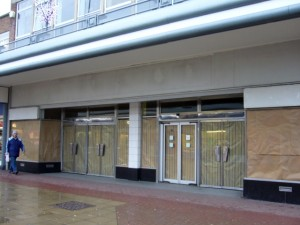Before - the former Woolworths, Jarrow (16 Dec 2009). Photograph by Graham Soult