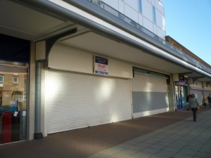 Grange Road frontage of former Woolworths, Jarrow (10 Nov 2010). Photograph by Graham Soult
