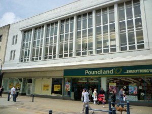 Former Woolworths (now - partly - Poundland) in South Shields (18 Jun 2010). Photograph by Graham Soult