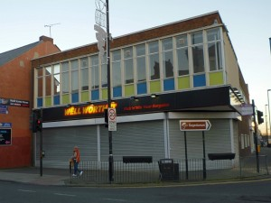 Former Woolworths and Well Worth It, Wallsend (10 Nov 2010). Photograph by Graham Soult