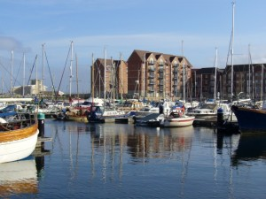 The attractive Hartlepool Marina (17 Sep 2009). Photograph by Graham Soult