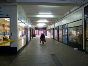 The desolate Market Walk area of Hartlepool (16 Nov 2010). Photograph by Graham Soult