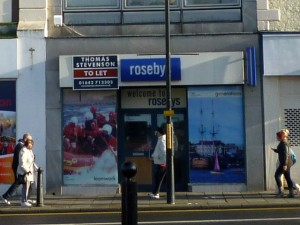 Closed-down Rosebys in Stockton (16 Nov 2010). Photograph by Graham Soult