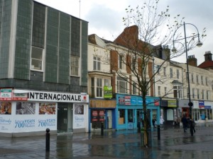 Empty shops in Stockton High Street (22 Nov 2010). Photograph by Graham Soult