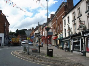 Buxton Road, Ashbourne town centre. Photograph by Roger Cornfoot
