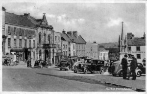 Postcard of Ashbourne Market Place (c1930s)