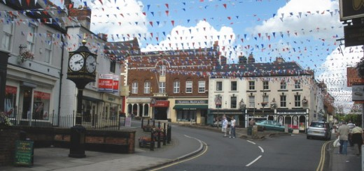 Ashbourne town centre. Photograph by Roger Cornfoot