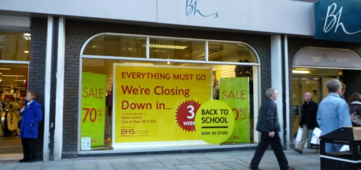 Closing down sale at BHS Newcastle (14 Jan 2011). Photograph by Graham Soult