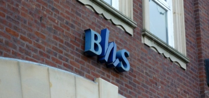 Old-style BHS logo, Carlisle (14 Dec 2010). Photograph by Graham Soult