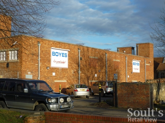 Rear view, Boyes, Bishop Auckland (24 Jan 2011). Photograph by Graham Soult