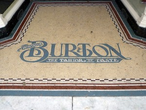Original Burton mosaic, Jarrow (12 Jan 2011). Photograph by Graham Soult