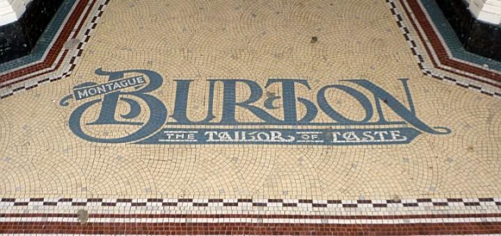 Original Burton mosaic, Jarrow (12 Jan 2011). Photograph by Graham Soult
