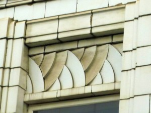 Window detail, Burton building, Jarrow (12 Jan 2011). Photograph by Graham Soult