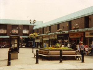 Gungate Precinct with Kwik Save store in the early 1990s. Photograph by Graham Soult