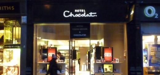 Hotel Chocolat, Blackett Street, Newcastle (12 Jan 2011). Photograph by Graham Soult
