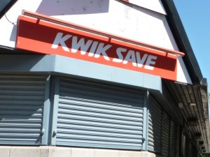 Closed down Kwik Save store. Photograph by Graham Soult
