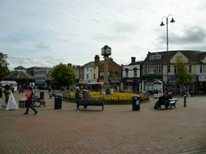 Market Place, Cannock (30 Sep 2010). Photograph by Graham Soult