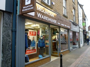 Mountain Warehouse, Hexham (1 Jan 2011). Photograph by Graham Soult