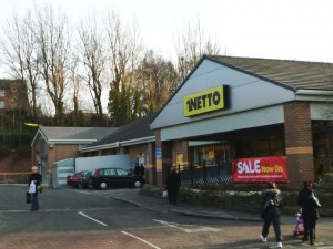 Former Netto, Birtley (24 Jan 2011). Photograph by Graham Soult