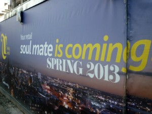 Trinity Leeds hoarding, Leeds (21 Jan 2011). Photograph by Graham Soult