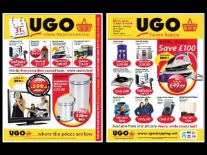 Mock-up UGO leaflets