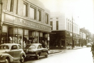 Historic view of Jarrow's Woolworths and Burton shops in Ormonde Street