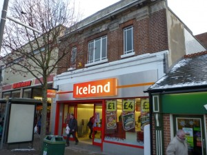 Former Woolworths (now Iceland), Belper (23 Dec 2010). Photograph by Graham Soult