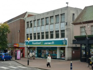 Former Woolworths (now Poundland), Cannock (30 Sep 2010). Photograph by Graham Soult
