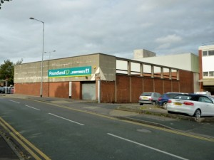 Rear of former Woolworths (now Poundland), Cannock (30 Sep 2010). Photograph by Graham Soult