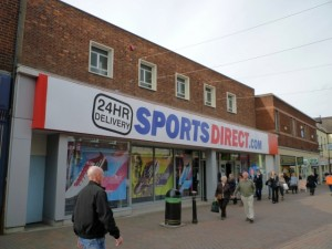 Former Woolworths (now Sports Direct), Stafford (30 Sep 2010). Photograph by Graham Soult
