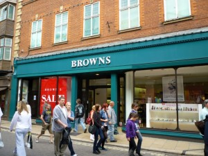 Browns' iconic York store (17 Jul 2010). Photograph by Graham Soult
