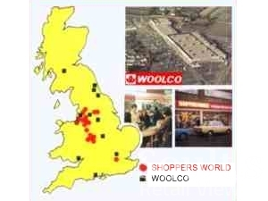 Shoppers World locations, 1975 (adapted from Woolworths Virtual Museum graphic)