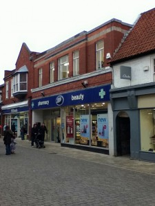 Former Woolworths (now Boots), Beverley (5 Feb 2011). Photograph by Jon Carling