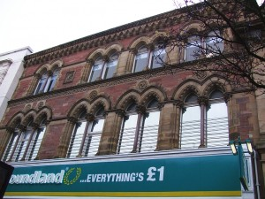 Former Woolworths (now Poundland), Warrington (27 Dec 2010). Photograph by Beth Anderson